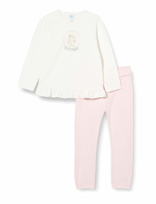 Sanetta Baby_Girl's Schlafanzug Broken White Pajama Set