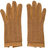 Hermes Leather And Knit Gloves