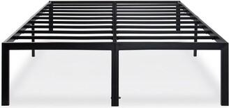 Overstock Full 18-inch High Rise Heavy Duty Black Metal Platform Bed Frame