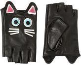 Karl Lagerfeld Choupette Leather Fingerless Gloves
