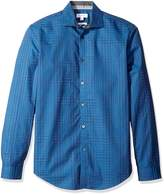 Calvin Klein Sportswear Men's Sha Dow Plaid Long Sleeve Button Down Shirt