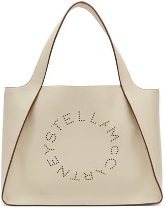 Stella McCartney White Logo Tote