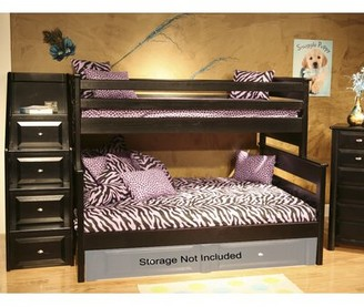 Petersen Twin Over Full Bunk Bed with Stairway Chest Harriet Bee