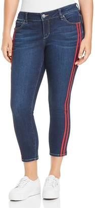 SLINK Jeans Plus Stripe Ankle Jeans in Camila