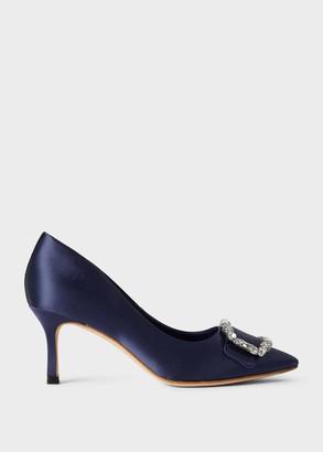 Hobbs Lucinda Satin Jewel Court Shoes