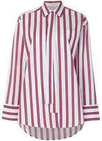 MSGM striped tie neck blouse