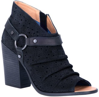 Dingo Spurs Ruched Ankle Bootie