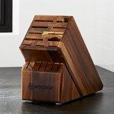 Crate & Barrel Wüsthof ® 17-Slot Acacia Knife Block