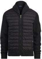 Polo Ralph Lauren Paneled Full-Zip Sweater