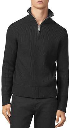 Sandro Ribbed Half-Zip Sweater
