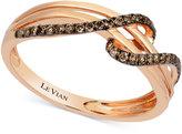 LeVian Le Vian Chocolatier® Diamond Wrap Ring (1/4 ct. t.w.) in 14K Rose Gold