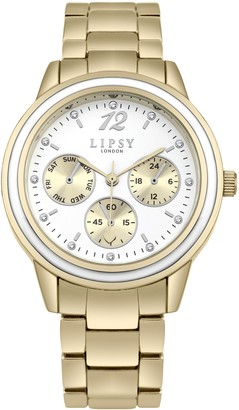 Lipsy Womens Analogue Classic Quartz Watch with Aluminium Strap SLP006GM