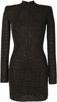 Balmain crocodile effect dress