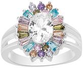 Bliss Multicolor Cubic Zirconia Baguette-Cut Ring