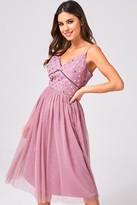 Little Mistress Phoebe Canyon Rose Sequin Midi Dress