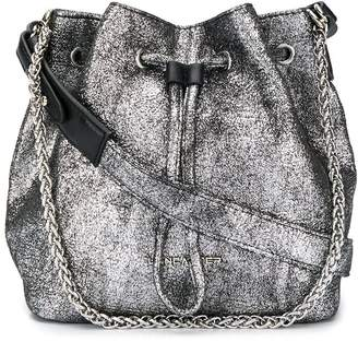Lancaster metallic bucket bag
