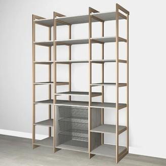"Martha Stewart California Closets The Everyday System 87.25"" Kitchen Pantry Finish: Gray Woodgrain Gold"