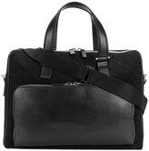 Canali checked briefcase