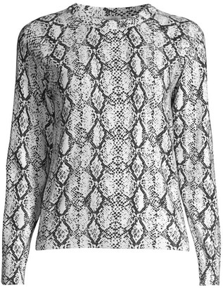 Minnie Rose Python Crewneck Sweater