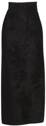 Alaia Velour Velvet Maxi Skirt