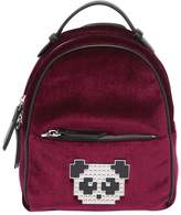Les Petits Joueurs Baby Mick Metal Panda Velvet Backpack
