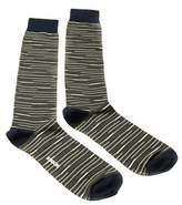 Missoni Gm00cmu5231 0002 Olive/navy Knee Length Socks.