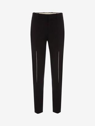 Alexander McQueen Slashed Dart Detail Pants