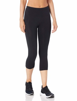 "Spalding Women's Activewear Cotton Spandex 19"" Inseam Capri Legging with Pocket"