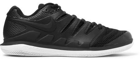 Nike Tennis - Air Zoom Vapor X Hc Rubber And Mesh Tennis Sneakers - Black