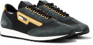 Prada Milano 70 Nylon And Suede Sneakers