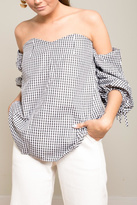 Carmin Gingham Off Shoulder Top