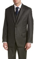 MICHAEL Michael Kors Wool 3pc Vested Suit With Flat Front Pant.