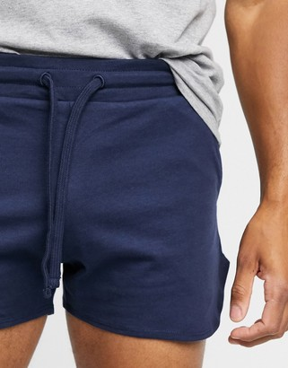 ASOS DESIGN organic lightweight jersey runners shorts in navy