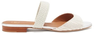 Malone Souliers Milena Woven-lurex Backless Sandals - Silver