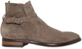 Officine Creative Princeton Suede Ankle Boots With Buckle