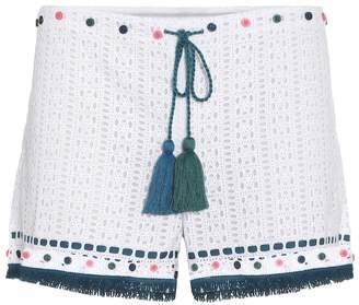 Talitha Collection Eyelet cotton shorts