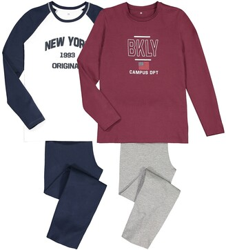 La Redoute Collections Pack of 2 Printed Pyjamas in Cotton, 10-18 Years
