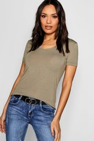 boohoo Basic Super Soft V Neck T-Shirt