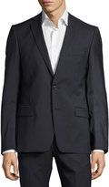 Versace Pinstriped Two-Piece Suit, Gray/Blue