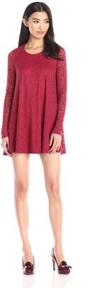 Show Me Your Mumu Women's Tyler Tapestry Lace Long Sleeve Tunic Dress