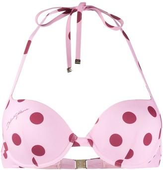Dolce & Gabbana Polka Dot Bikini Top