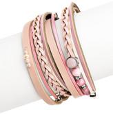 Saachi Angela Pink Braided Strand Bracelet