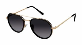Tahari Women's TH683 Aviator-Designed Sunglasses with 100% UV Protection 53 mm