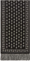 Alexander McQueen Black and Ivory Upside Down Skull Scarf