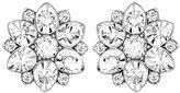 Swarovski Women's Stud Earrings Rhodium-Plated Transparent Glass 1 cm – 5112144