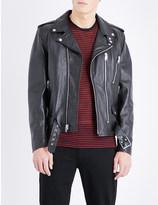 Saint Laurent Blood Luster embellished leather jacket