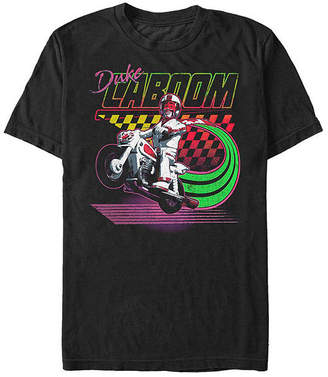 Fifth Sun Toy Story 4 Duke Caboom Action Pose Mens Crew Neck Short Sleeve Graphic T-Shirt