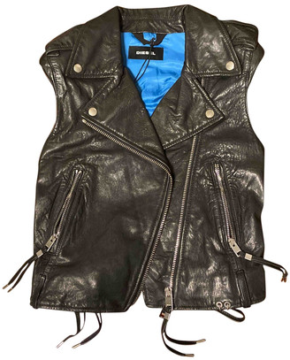 Diesel Black Leather Jackets