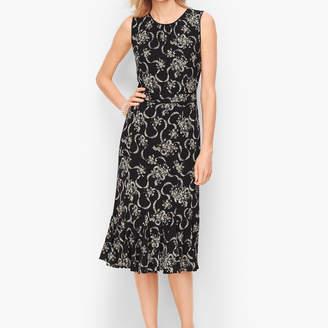 Talbots Floral Crepe Fit & Flare Dress