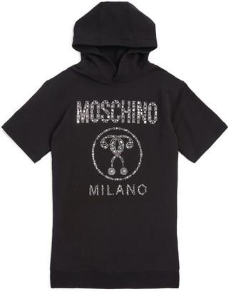 Moschino Kids Embellished Logo Sweater Dress